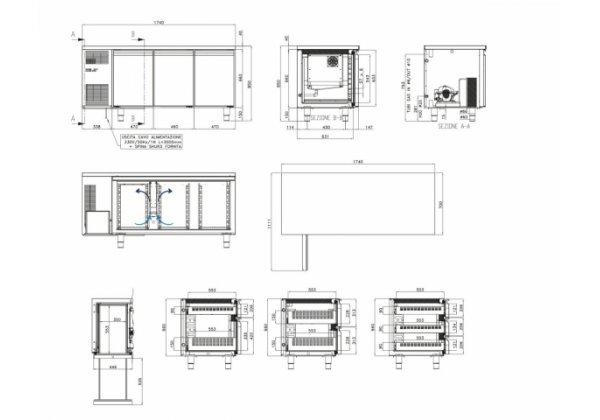 Studio54 - TOP3P - hűtött munkaasztal 3 ajtós