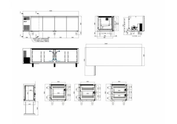Studio54 - cukrászati hűtött munkaasztal 4 ajtós
