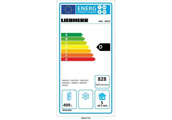 Liebherr GKv 6410 hűtő szekrény 663 lt  - GN2/1