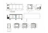 Studio54 - TOP4P - hűtött munkaasztal 4 ajtós
