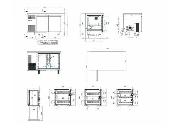 Studio54 - TOP2P - hűtött munkaasztal 2 ajtós