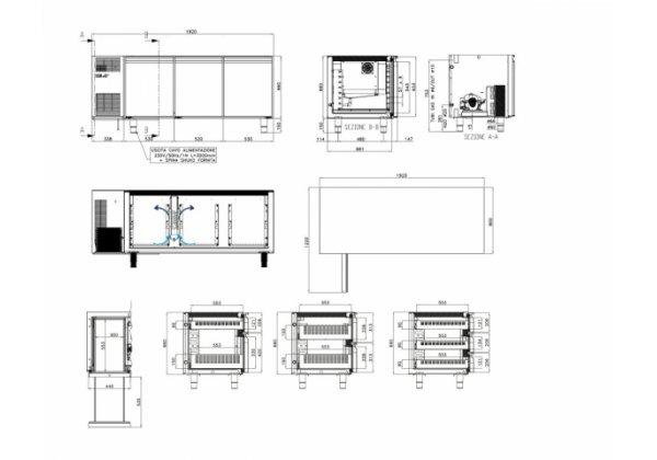 Studio54 - cukrászati hűtött munkaasztal 3 ajtós