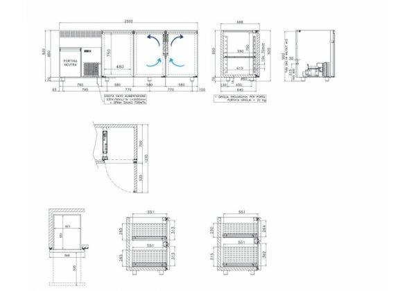 Studio54 Birreria3P Italhűtő pult 3 ajtós
