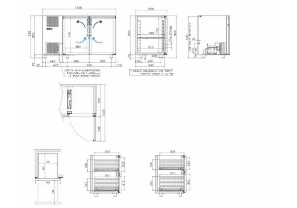 Studio54 Birreria2P Italhűtő pult 2 ajtós